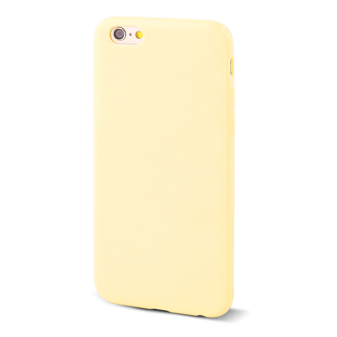 Light Yellow Soft Plastic Smooth Case Cover Protector for Apple iPhone 6G 4.7""