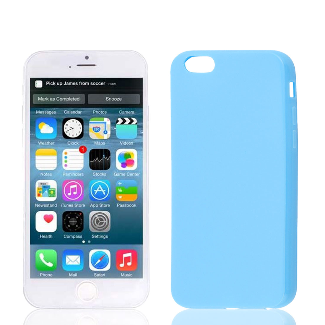 Light Blue Soft Plastic Smooth Case Cover Protector for Apple iPhone 6 6G 4.7""