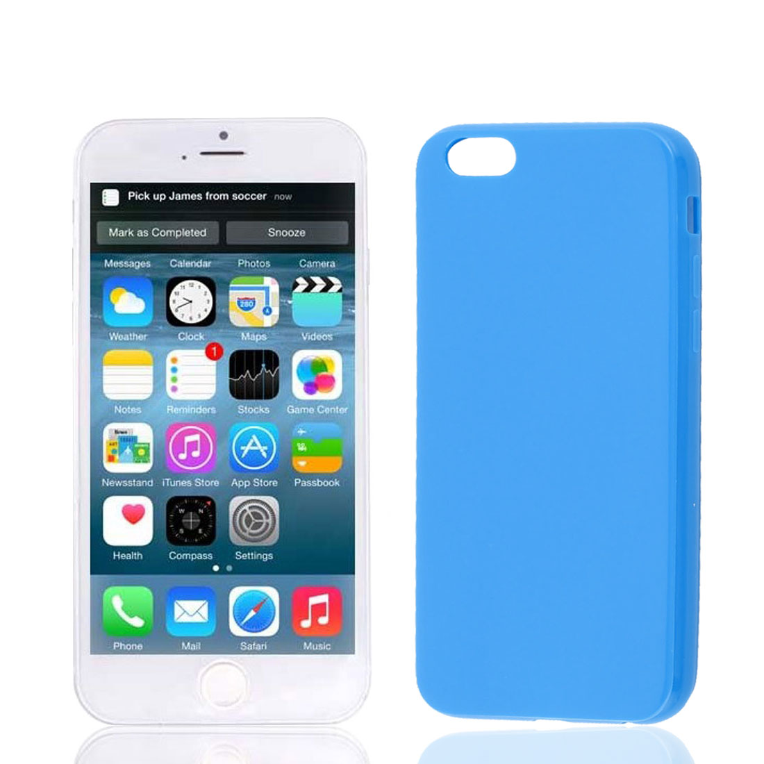 Dark Blue Soft Plastic Smooth Case Cover Protector for Apple iPhone 6 6G 4.7""