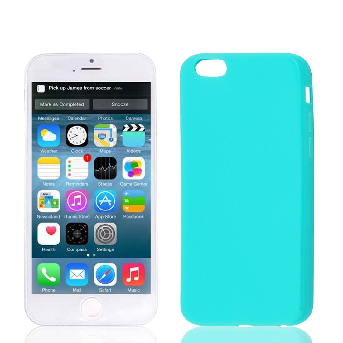 Cyan Soft Plastic Case Cover Protector for Apple iPhone 6 6th 4.7""