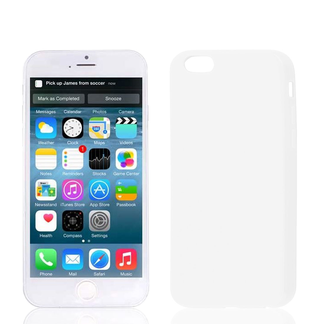 White Soft Plastic Case Cover Protector for Apple iPhone 6 6th 4.7""