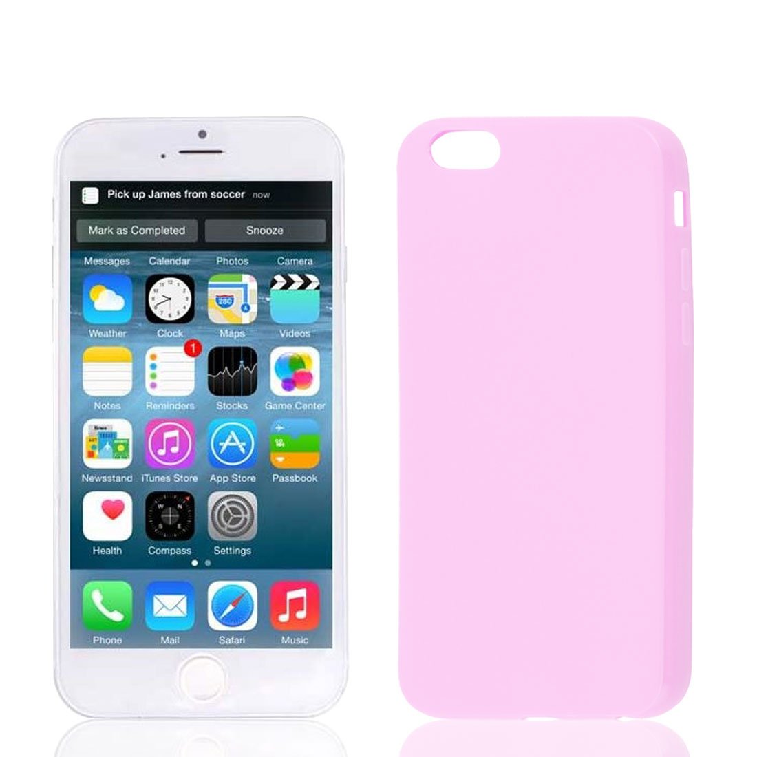 Pink Soft Plastic Case Cover Protector for Apple iPhone 6 6th 4.7""
