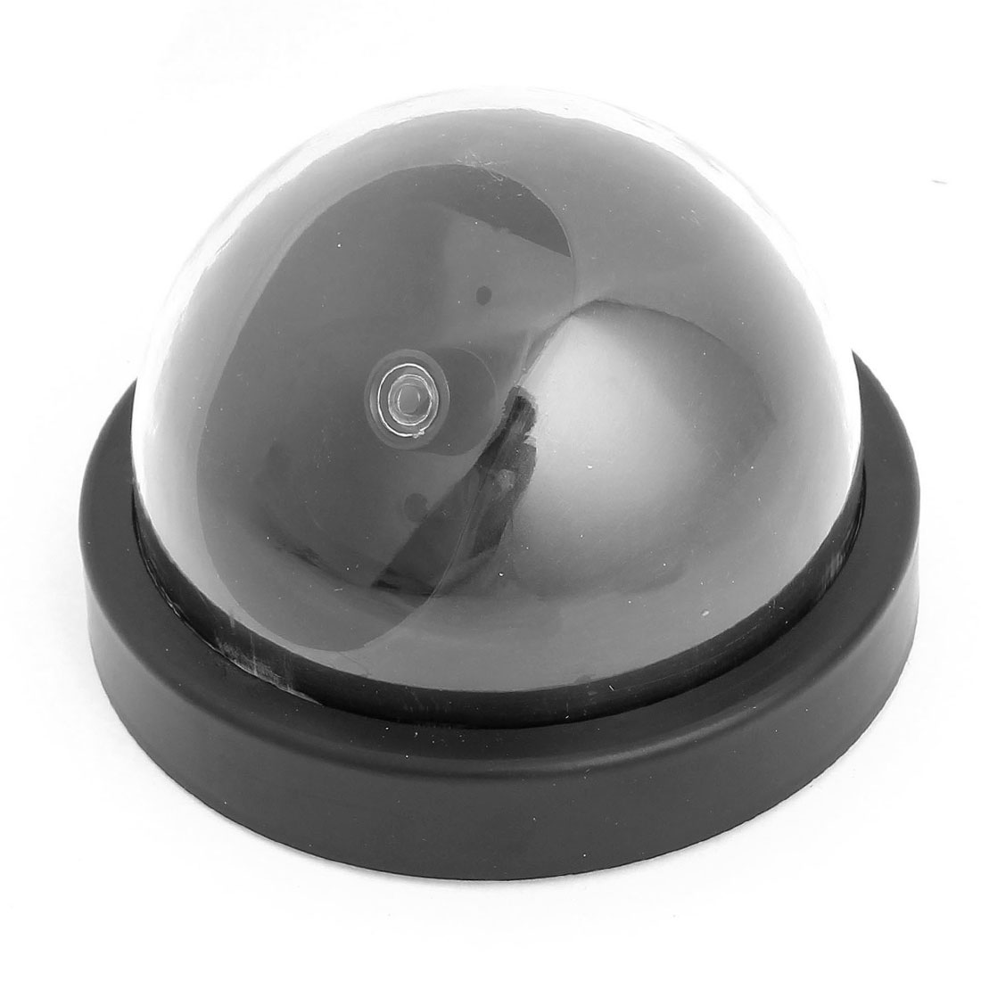 Battery Operated Red LED Flashing Light Security Surveillance Dummy Dome Camera