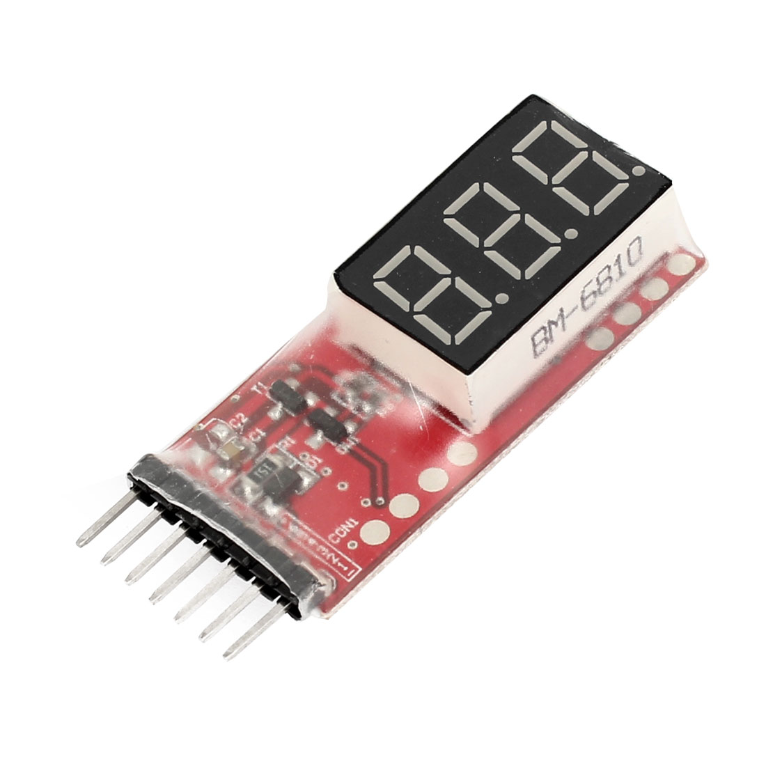 LED Display 7.4V-22.2V 2S-6S Lipo Battery Voltage Indicator Checker Tester Meter