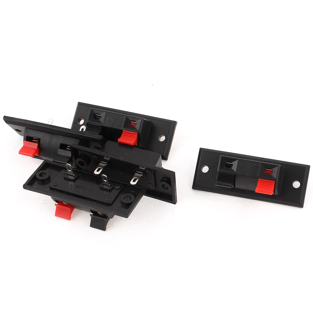 2Clip 5.5 x 2cm Red Black Push Type Audio Terminal Board Connector
