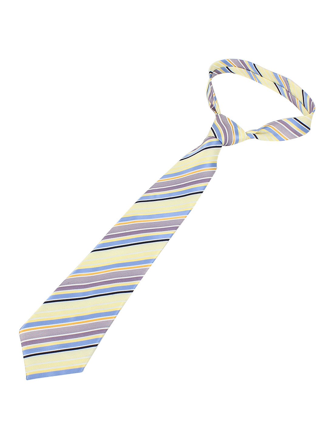 Bussiness Stripe Pattern Multicolor Polyester Textured Neckwear Necktie for Men