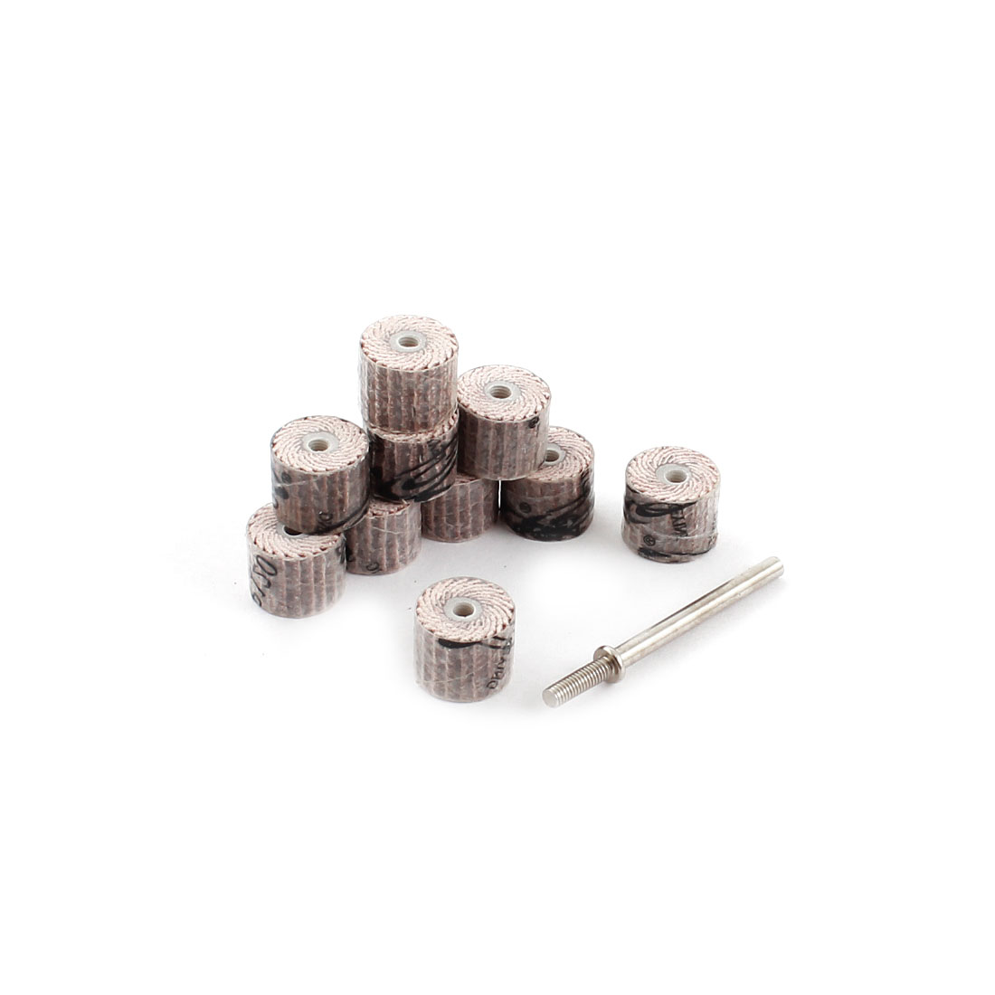 10 Pcs 120 Grit 12mm Dia Rosybrown Grinding Polishing Tool Flap Wheel Heads