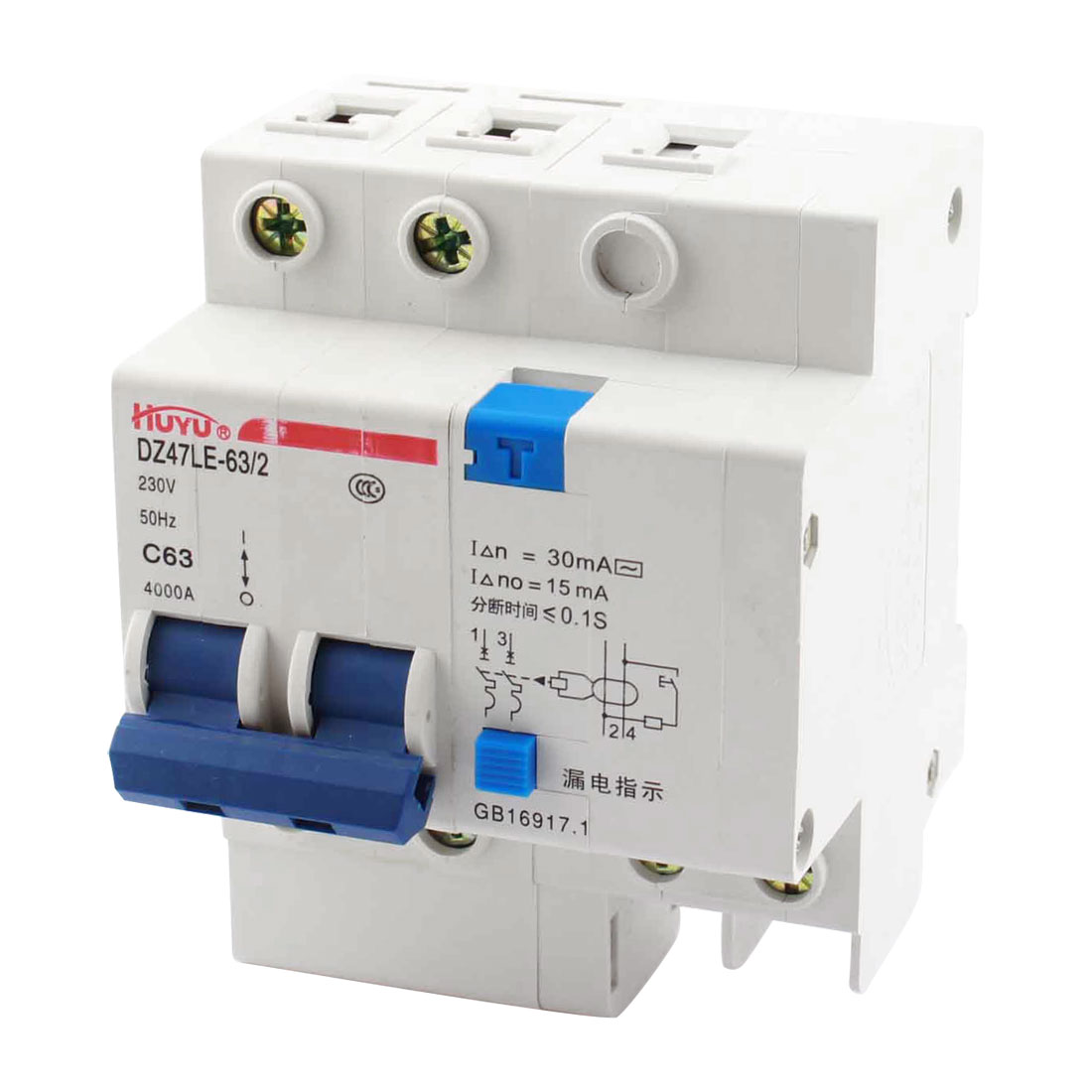 2-Pole On/Off Switch Electric Leakage Protection Circuit Breaker AC230V 4000A