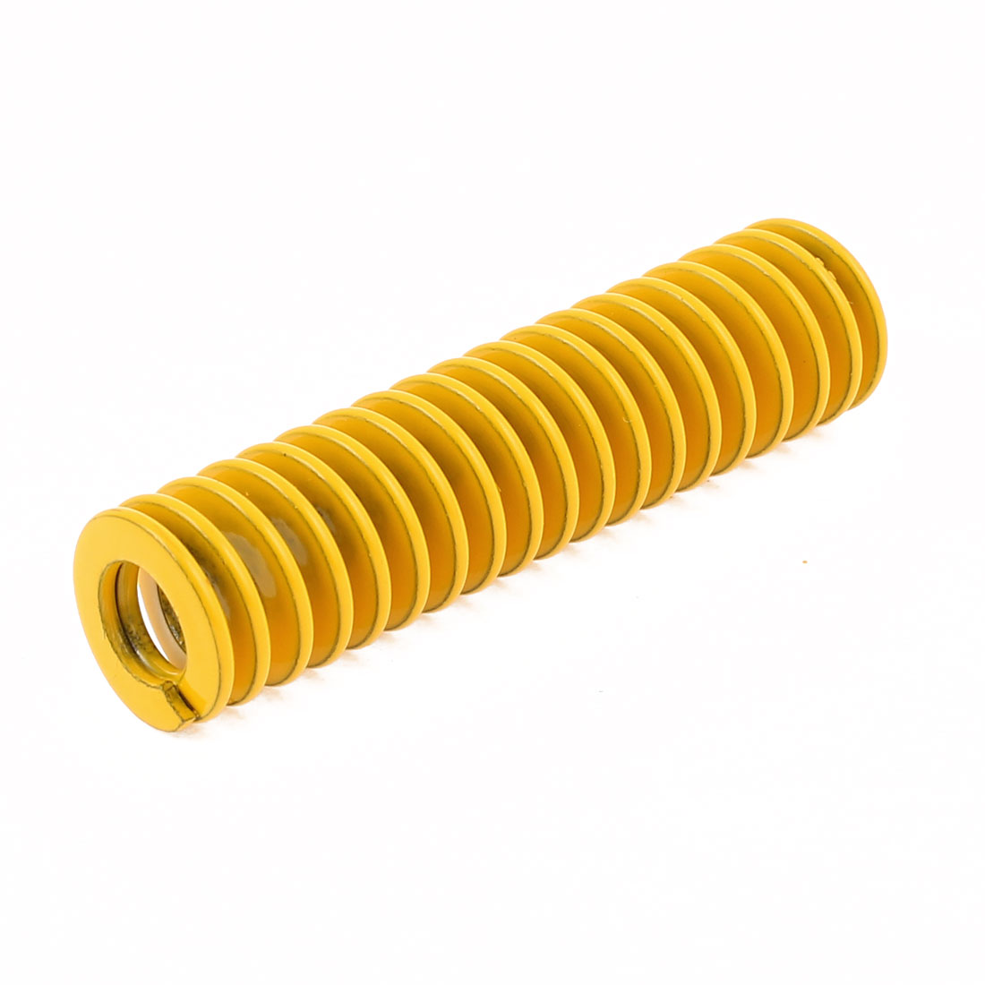 Yellow Alloy Steel Light Load Press Flat Coil Compression Die Spring 14mm x 7mm x 55mm