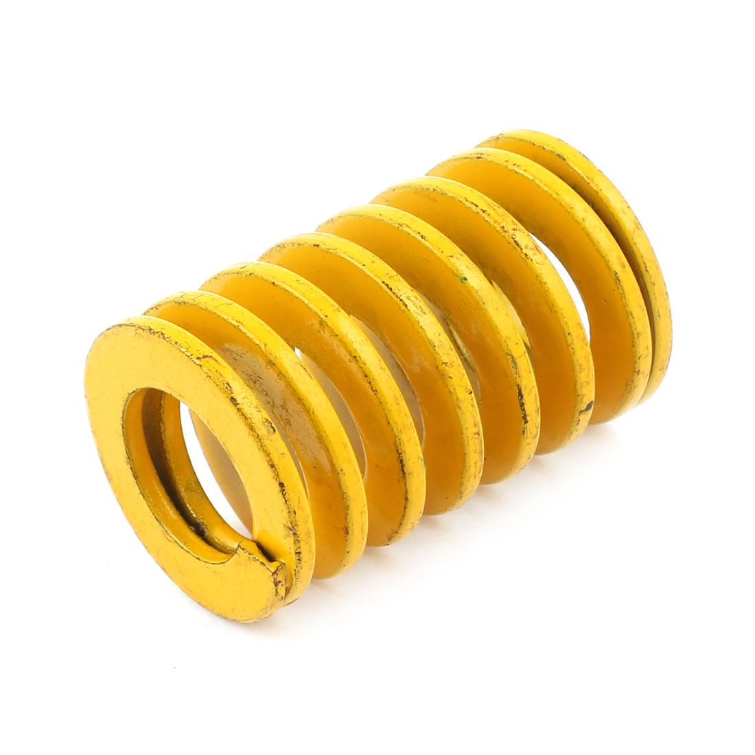 Yellow Alloy Steel Light Load Press Flat Coil Compression Die Spring 35mm x 17.5mm x 55mm