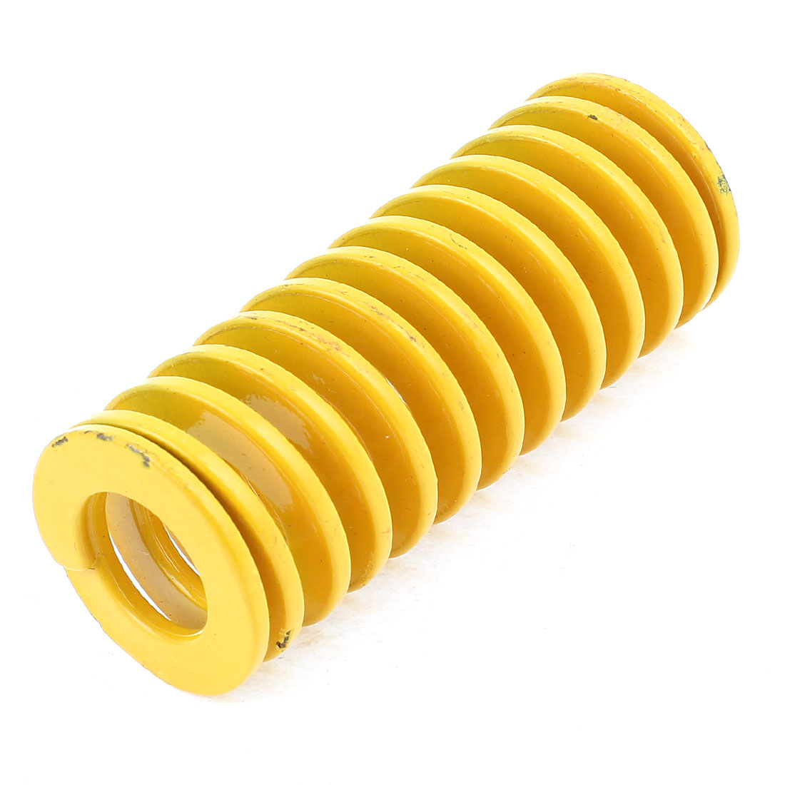 Yellow Alloy Steel Light Load Press Flat Coil Compression Die Spring 30mm x 15mm x 75mm