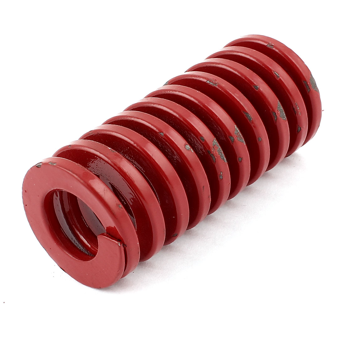 Red Alloy Steel Medium Load Press Flat Coil Compression Die Spring 35mm x 17.5mm x 75mm