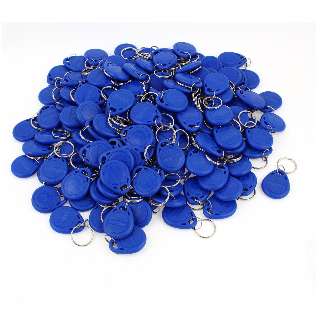 150pcs Blue RFID EM4100 125KHz Access Control ID Cards Tag Keyring Key Fobs