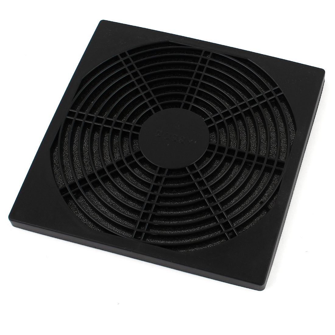 175mm x 175mm Black Plastic Fan Grill Dust Filter for Cabinet Case Ventilator