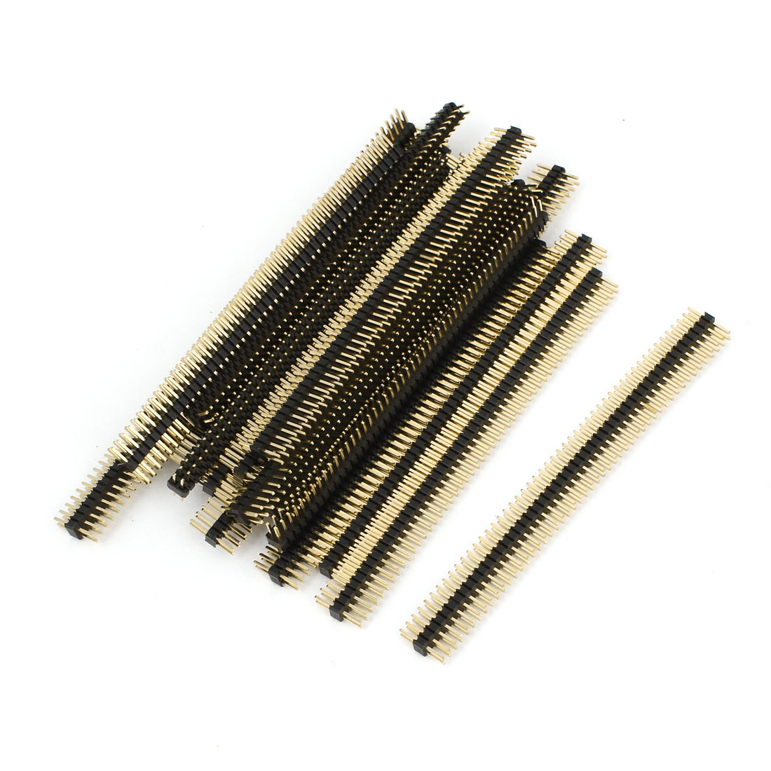 20pcs 50 Way Double Row Straight Pin Male Header Strip 1.27mm Pitch