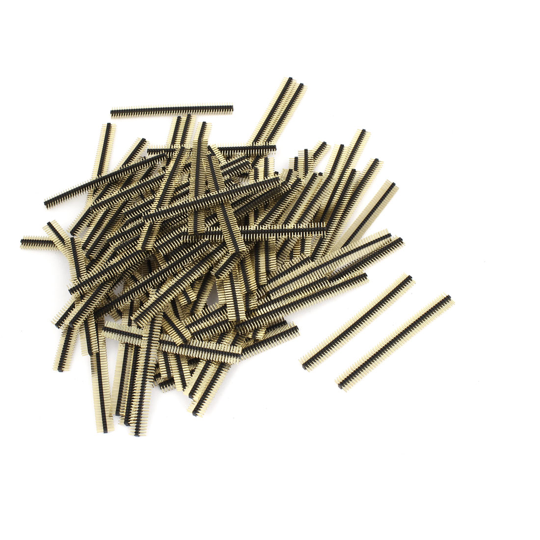 100Pcs 50 Position 1.27mm Pitch Double Row Straight Pin Header Strip