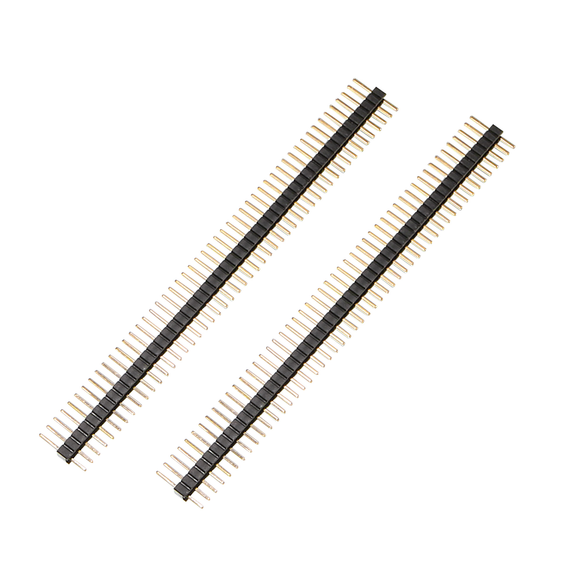 100pcs 50 Way Single Row Straight Pin Male Header Strip 1.27mm Pitch