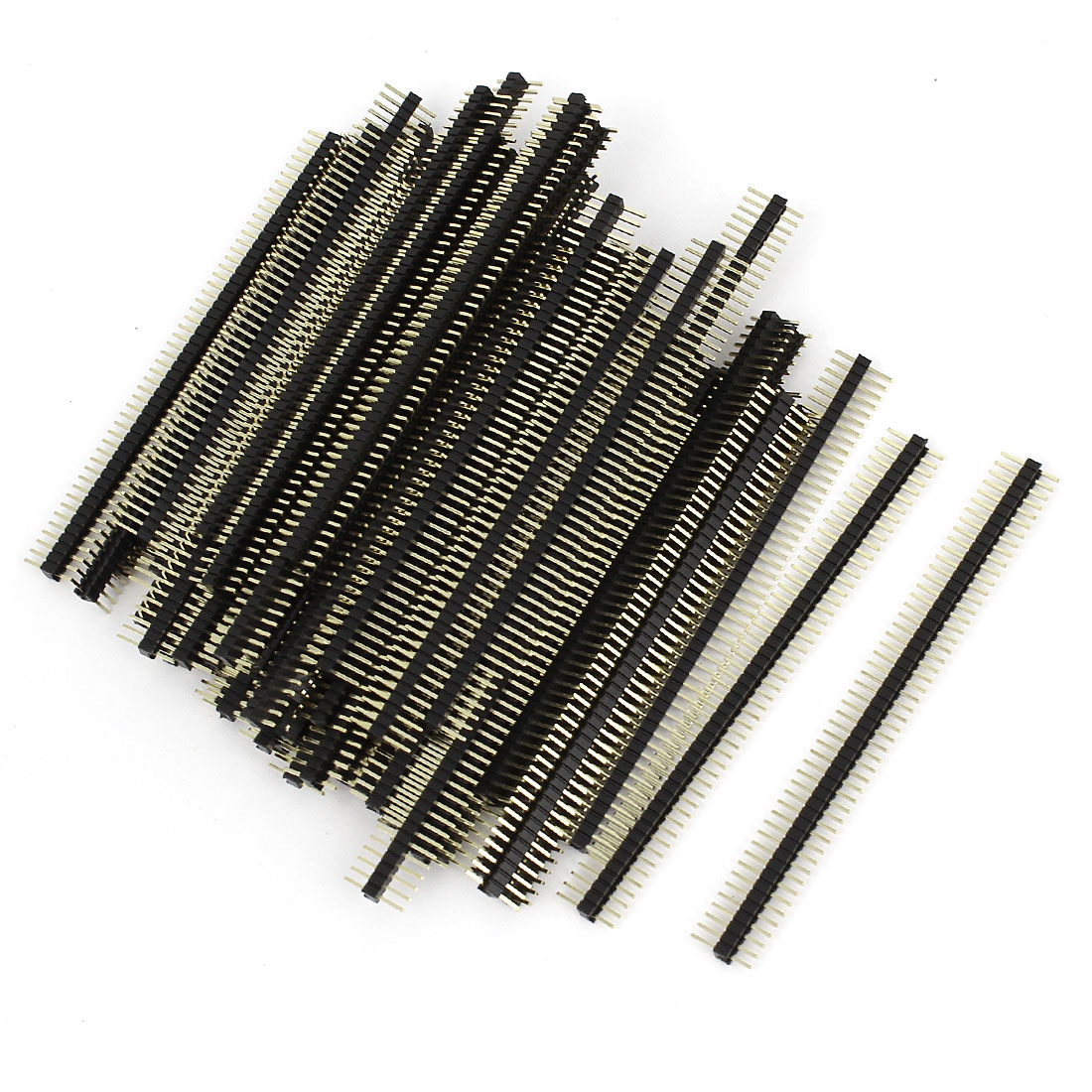 60Pcs 50 Position 1.27mm Pitch Single Row Straight Pin Header Strip