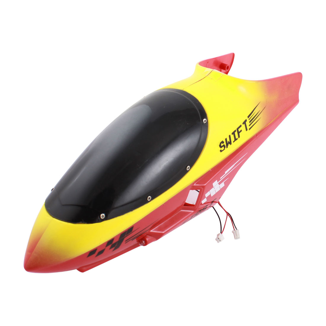 RC Radio Control Helicopter Part Yellow Plastic Canopy Head Cover Shell 28cm Length for FQ777-502