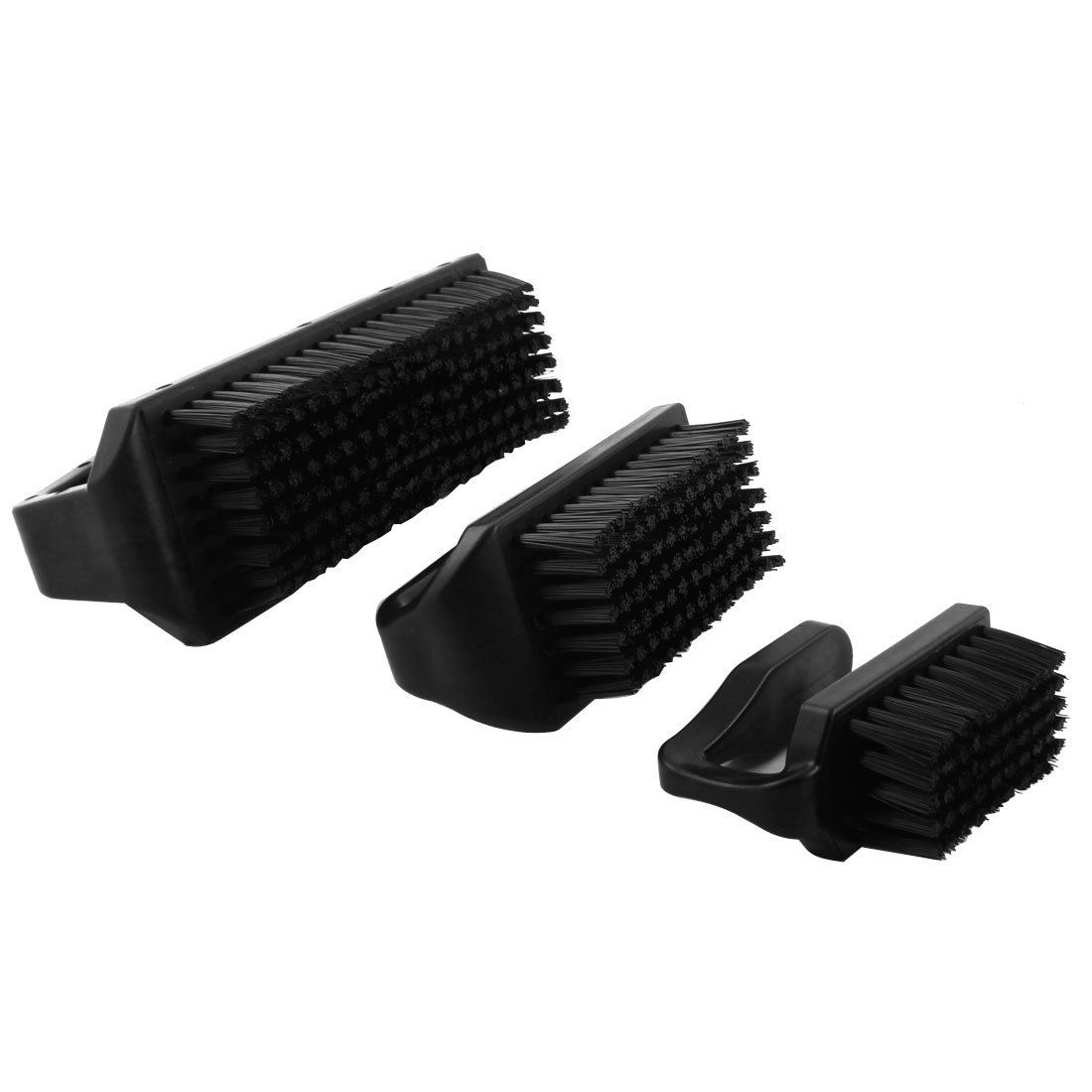 XXL XL L Size U Type Black Plastic Handle Static Control Conductive Ground PCB Rework ESD Anti Static Brush Cleaning Tool 3Pcs