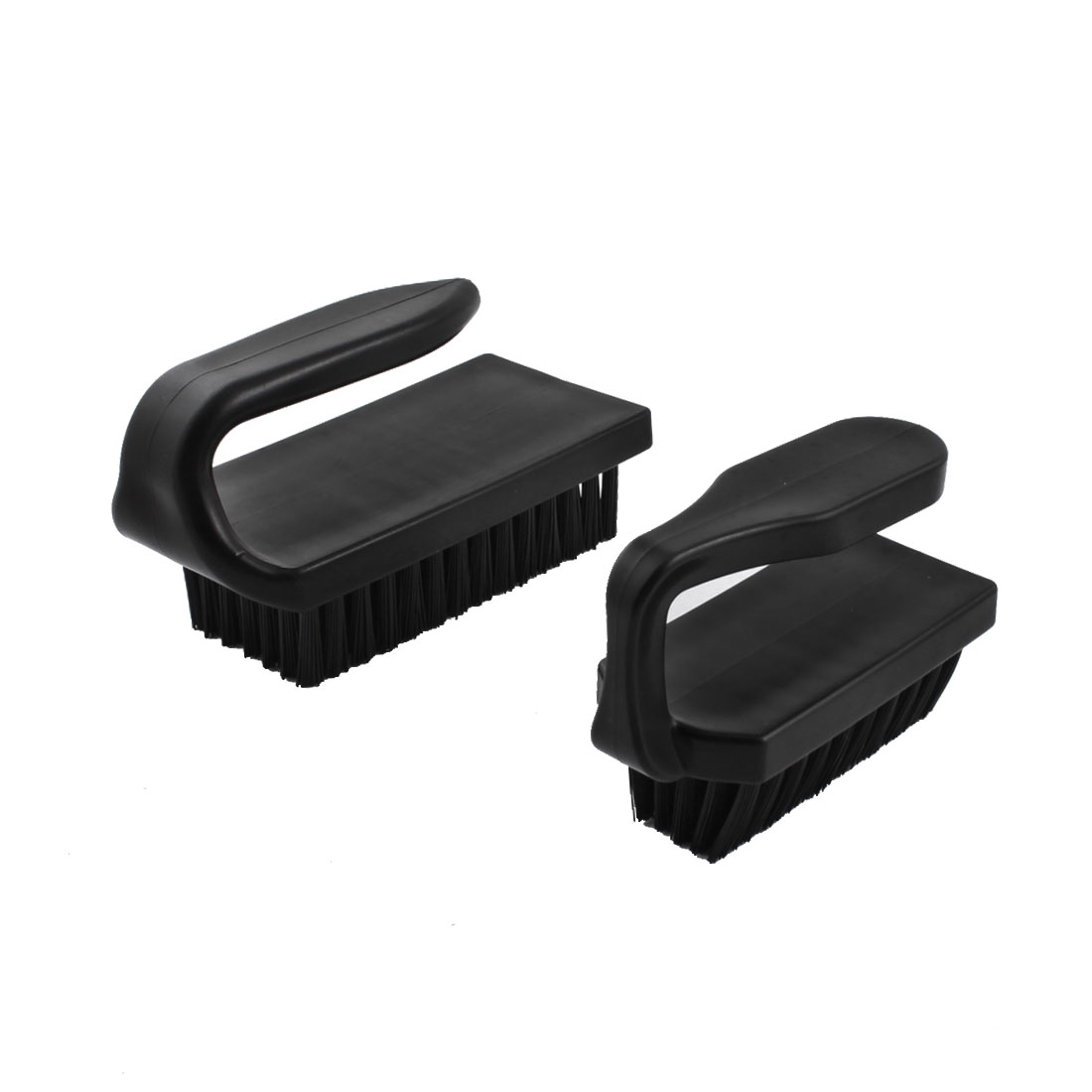 U Type Black Plastic Handle Static Control Conductive Ground Anti-Static Dust Cleaning Brush Black 2Pcs