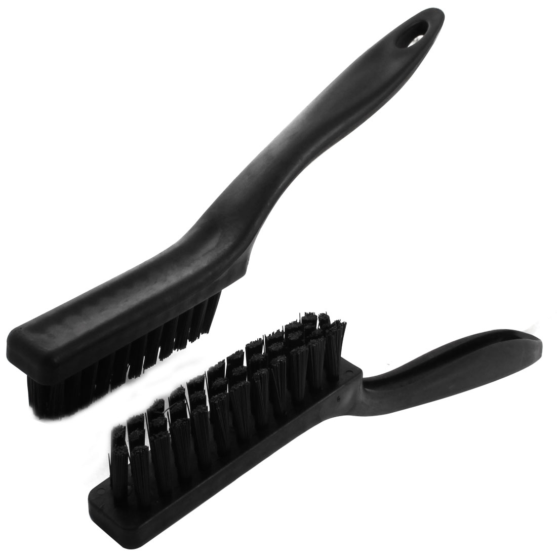 2 Pcs Black Static Control Conductive Ground Electronic ESD Anti-Static Brush Cleaning Tool 22.5cm Length