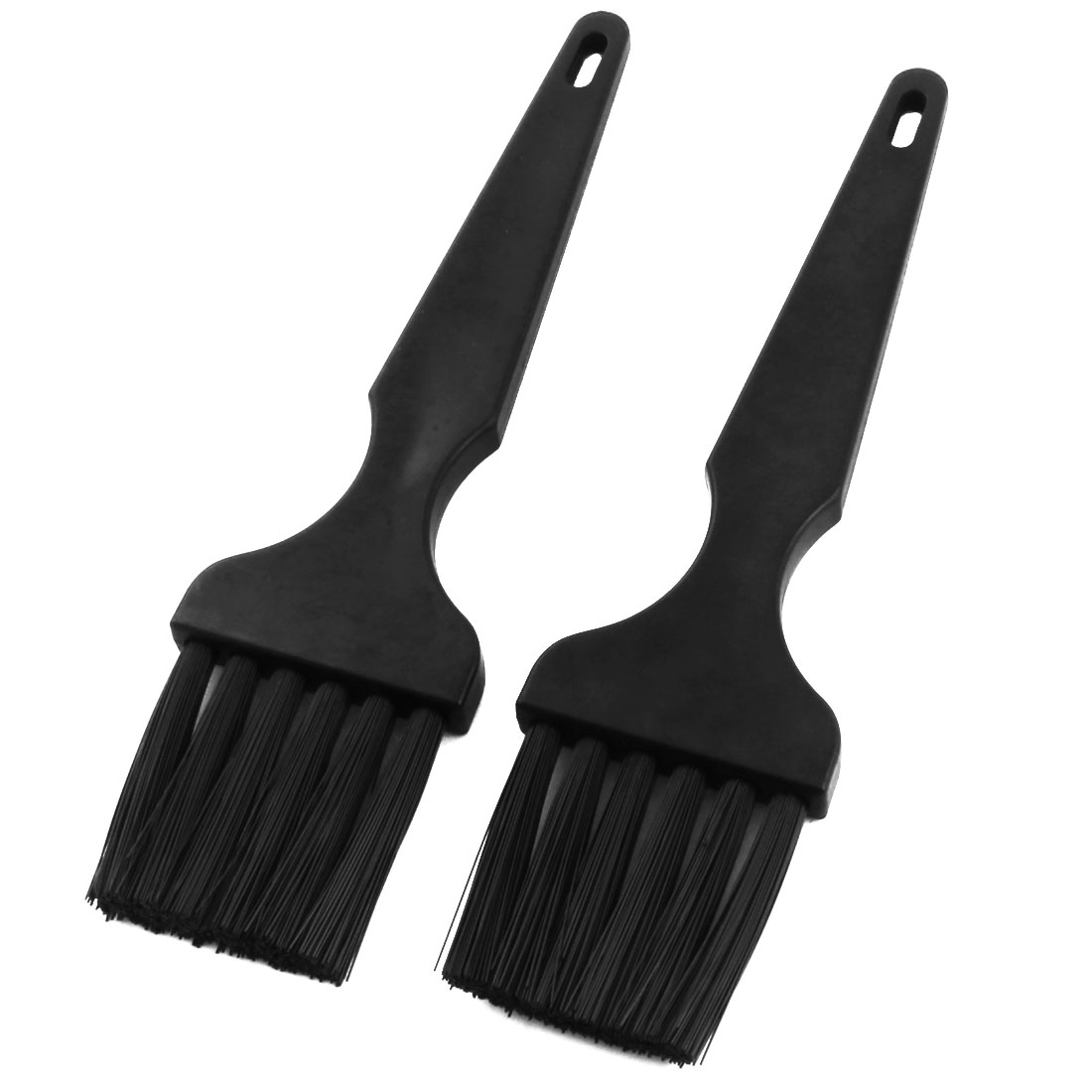 2Pcs Black Straight Plastic Handle PCB Motherboards Dust Cleaning Tool ESD Anti-static Brush for PCB Motherboards