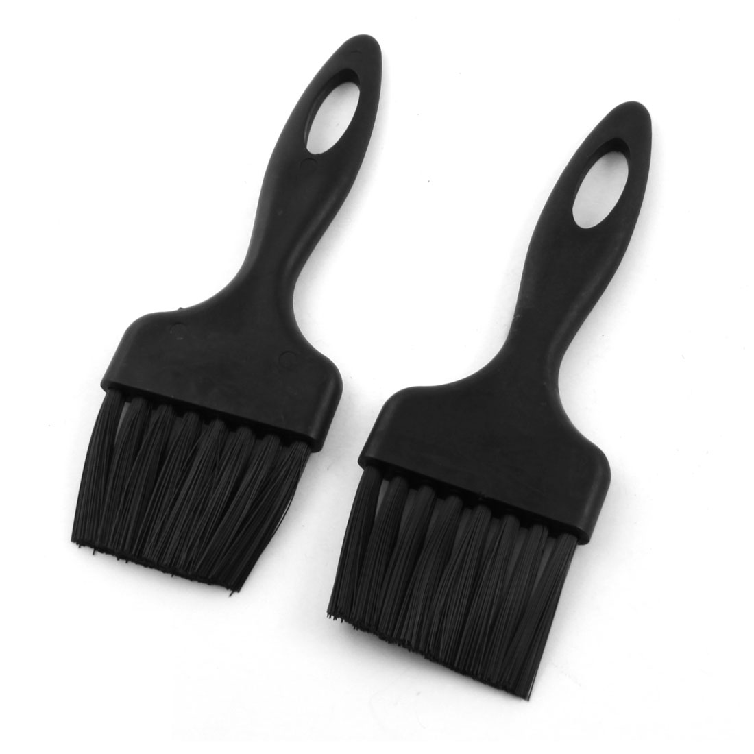 2Pcs PCB Motherboards Rework Cleaning Tool Black Straight Plastic Handle ESD Anti Static Brush Comb