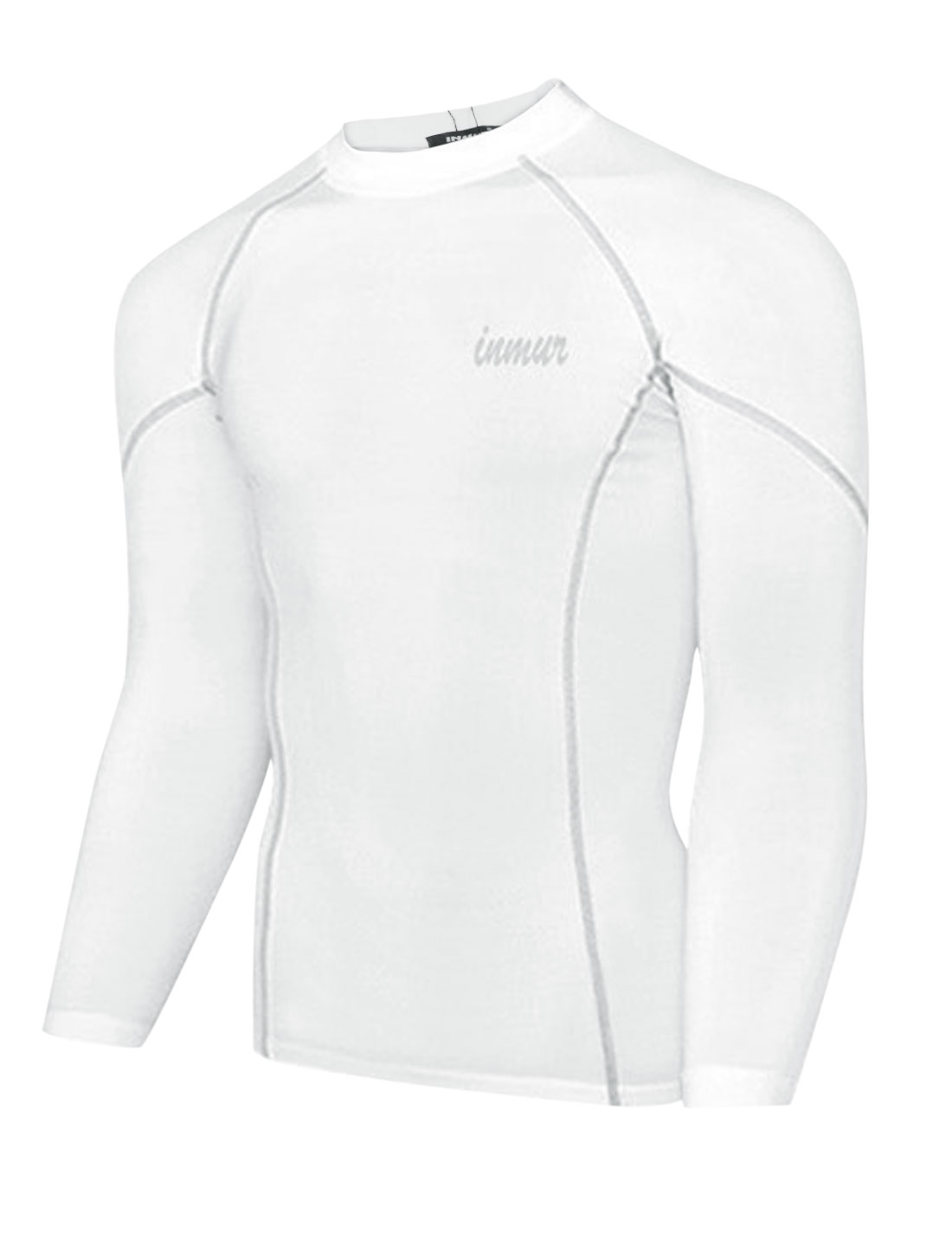 Men Pullover Raglan Sleeve Letters Detail Fitness Sports T-shirt White M
