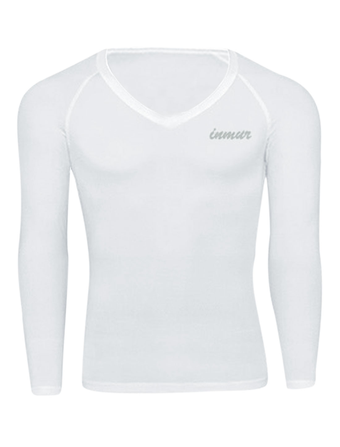 Men Pullover Raglan Sleeve Close-fitting Sports Tee Shirt White M