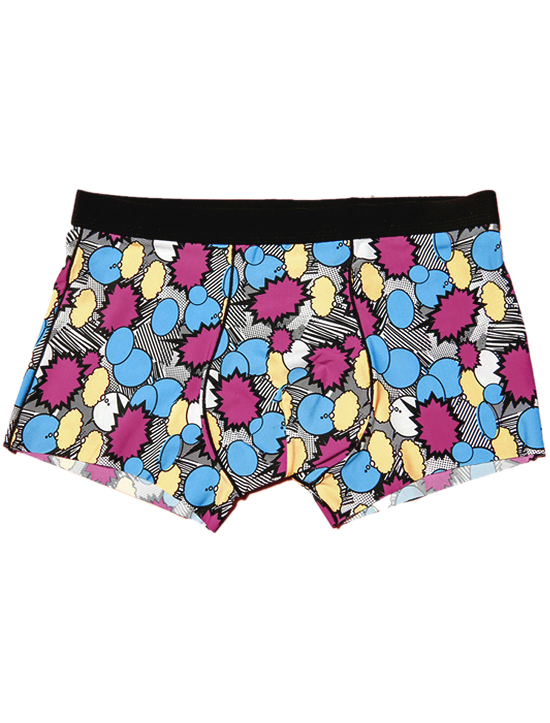 Elastic Waist Novelty Circle Print Soft Boxer Briefs for Men Multicolor W30