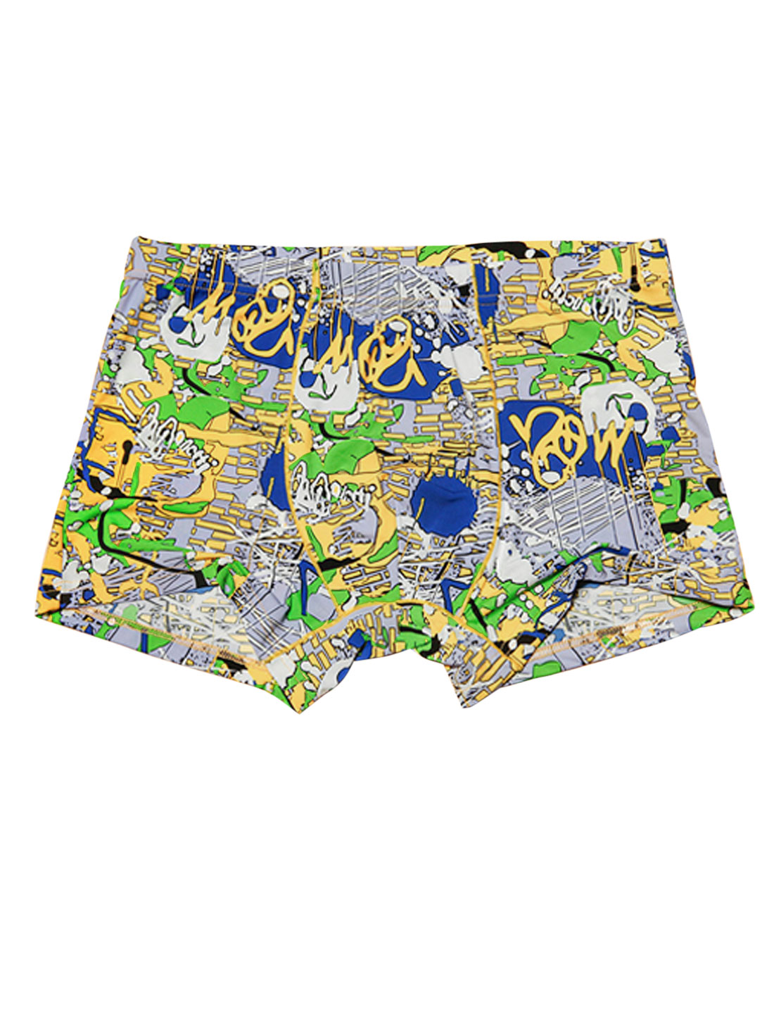 Newly Novelty Print Stretchy Boxer Briefs for Men Multicolor W30