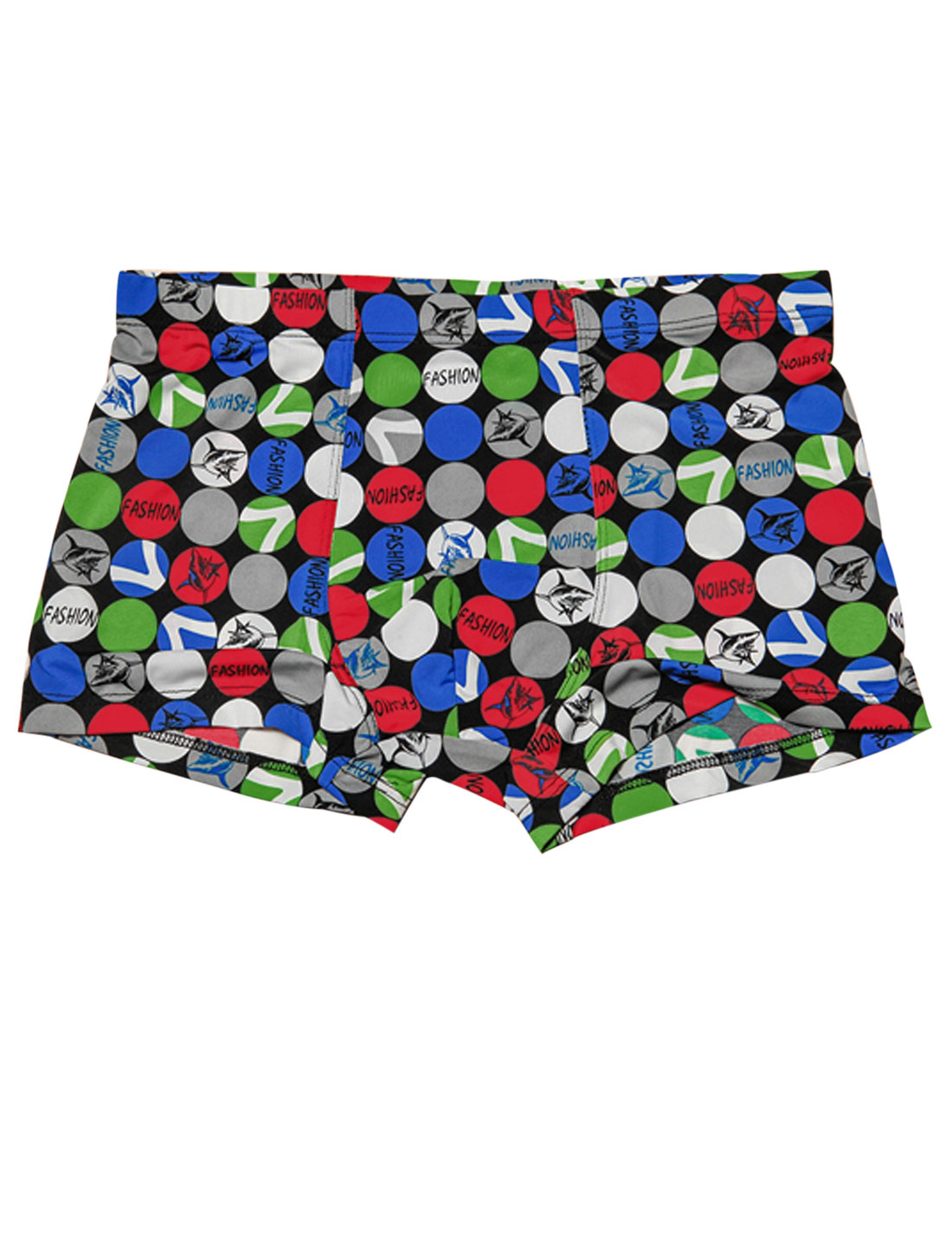 Men Elastic Waist Circle Letters Pattern Stylish Boxer Briefs Multicolor W30