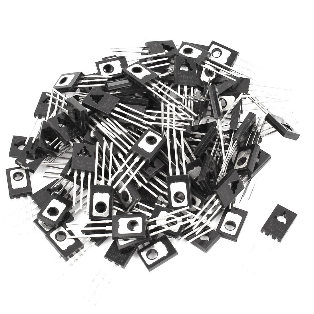 100 Pcs BD140 PNP TO-126 Power Transistors 80V 1.5A
