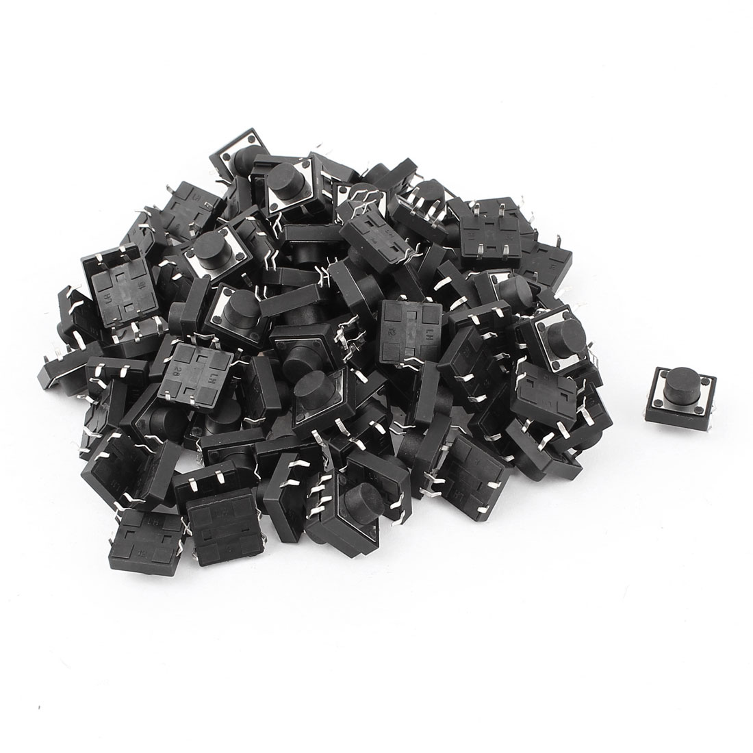 50 Pcs DIP 4 Pins Push Button Momentary Tactile Switch 12x12x7mm
