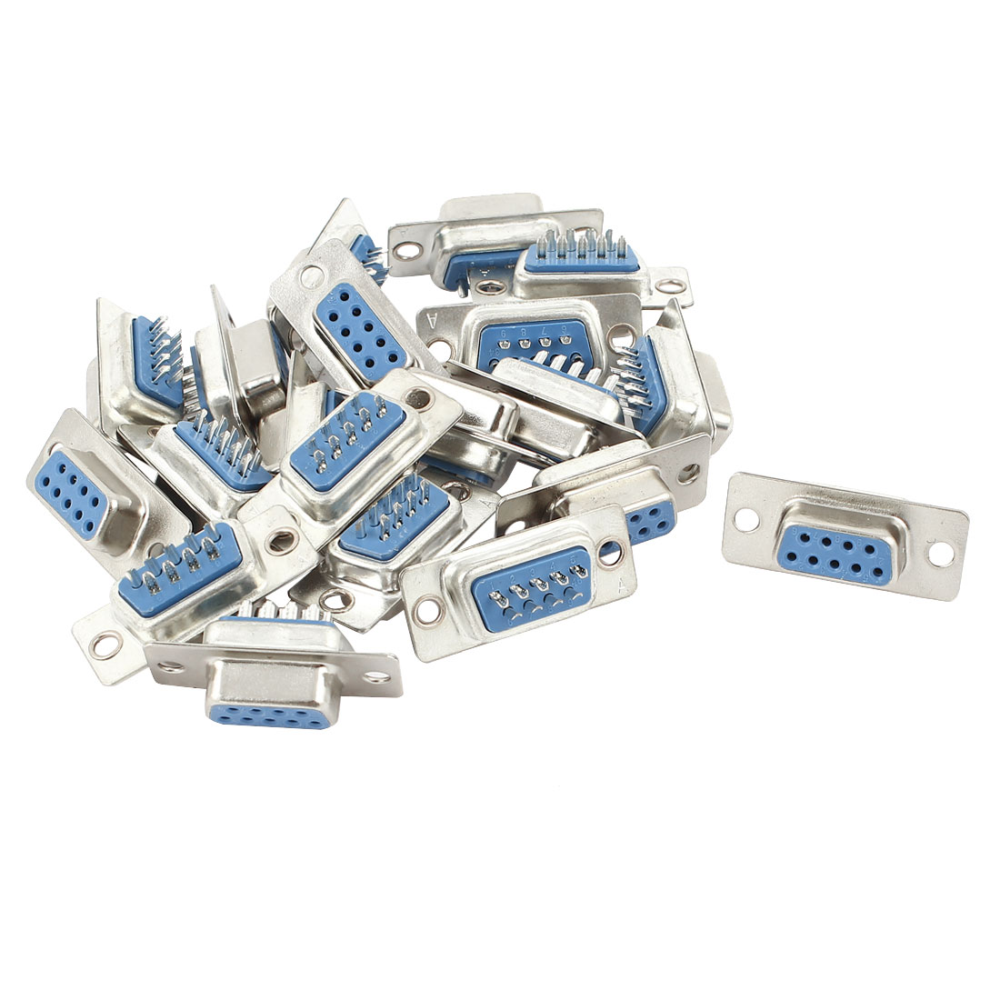 20 Pcs DB9 RS232 Serial 9 Pin Female Connector Adapter