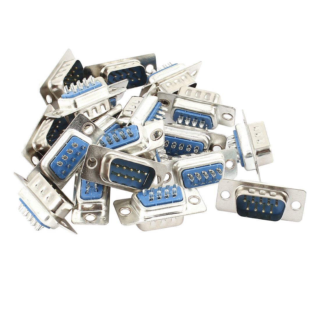 20 Pcs DB9 RS232 Serial 9 Pin Male Connector Adapter