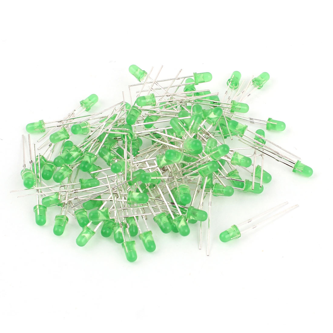 100 Pcs 3mm Round Head LED Green Light Emitting Diodes