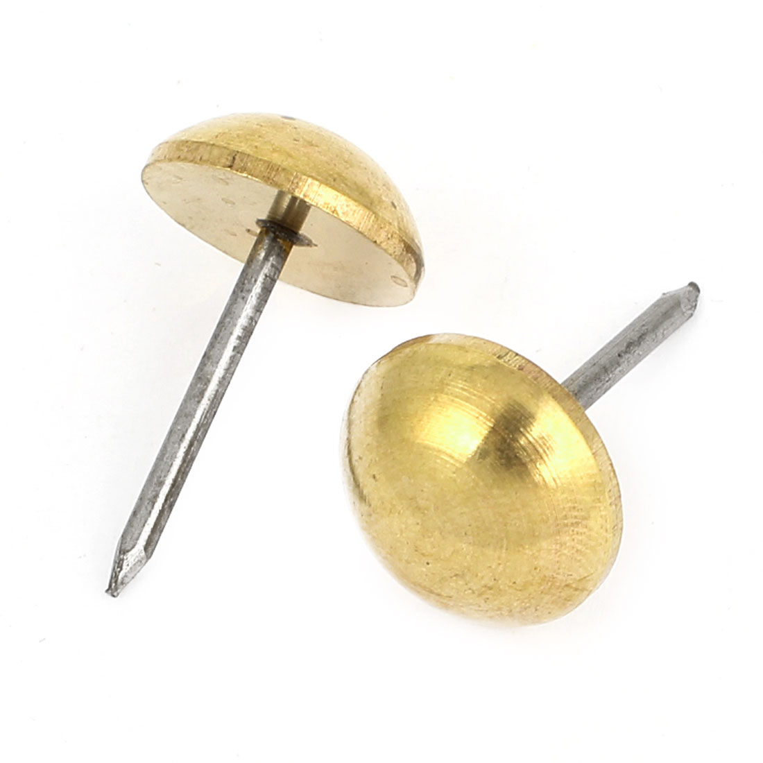 2 Pcs Gold Tone Office Message Board Pushpins Thumb Tacks 20mm Dia