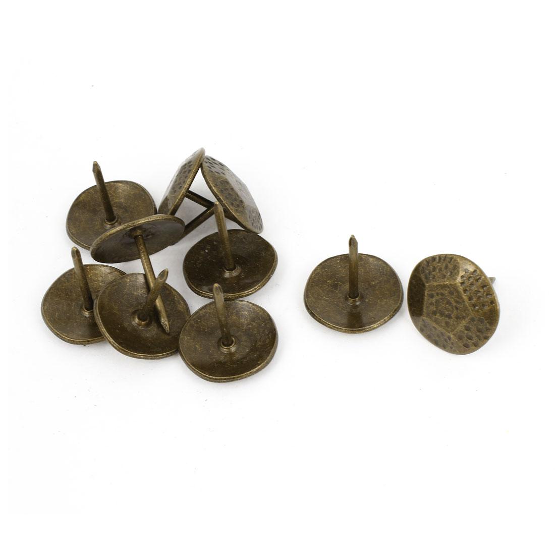 10 Pcs Bronze Tone Tortoise Back Shaped Notice Board Pushpins Thumb Tacks