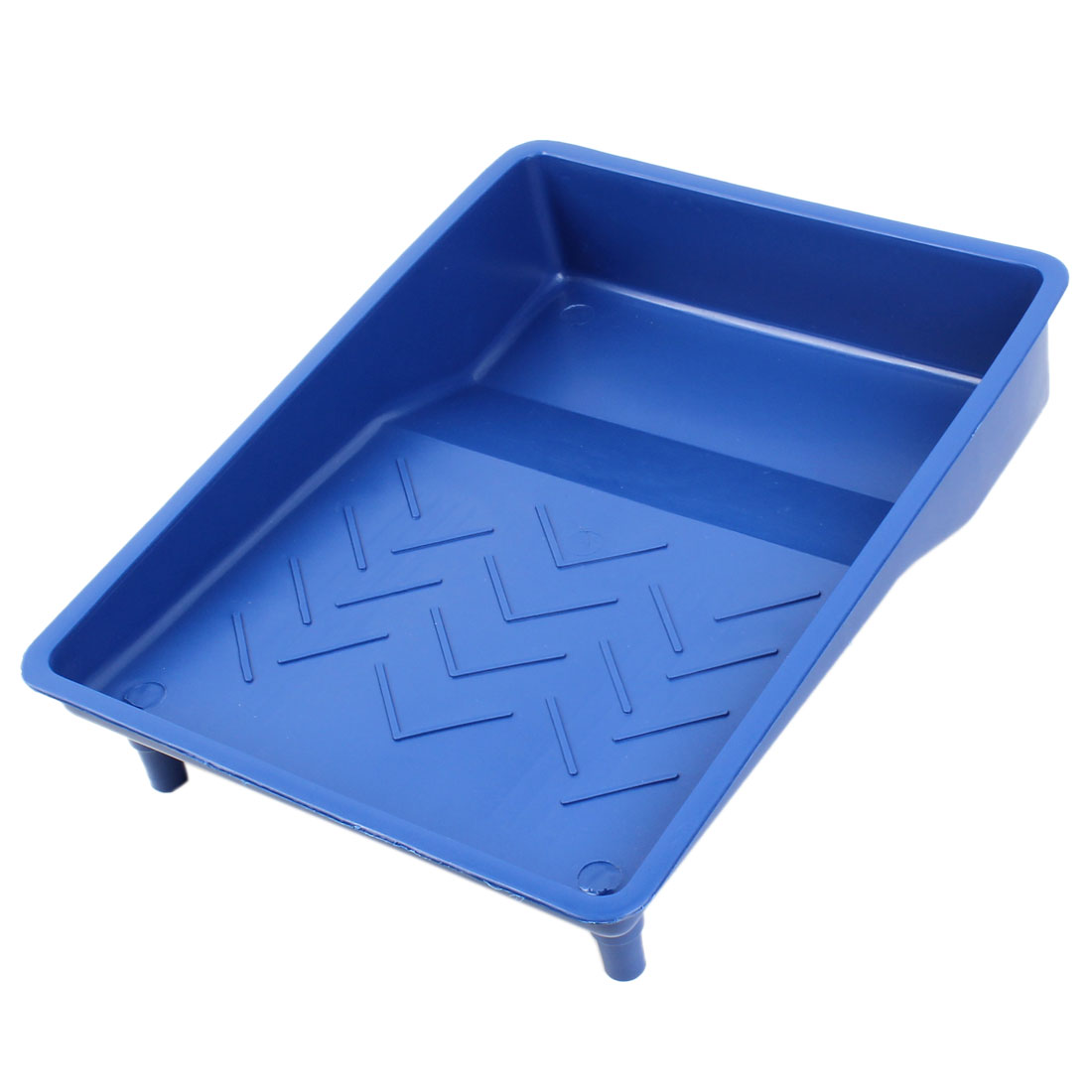 "Blue Plastic Painting Decorating 9"" Roller Tray Paint Brush Holder"