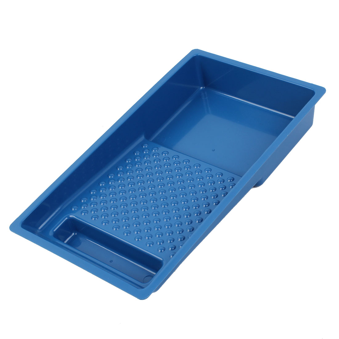 "Blue Plastic Painting Decorating 6"" Roller Tray Paint Holder"