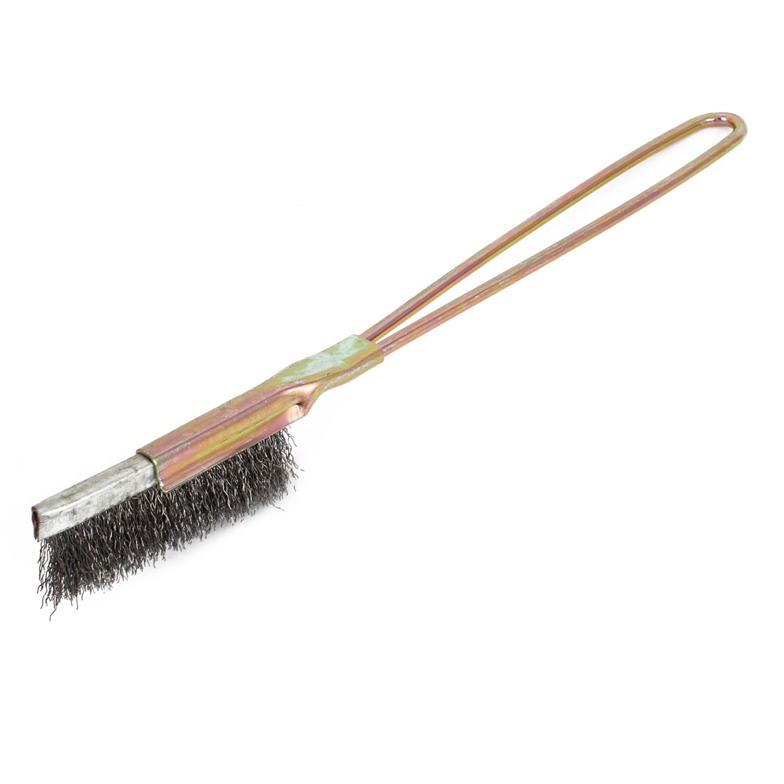 "8.5"" Length Brass Bristle Metal Handle Wire Scratch Brush"