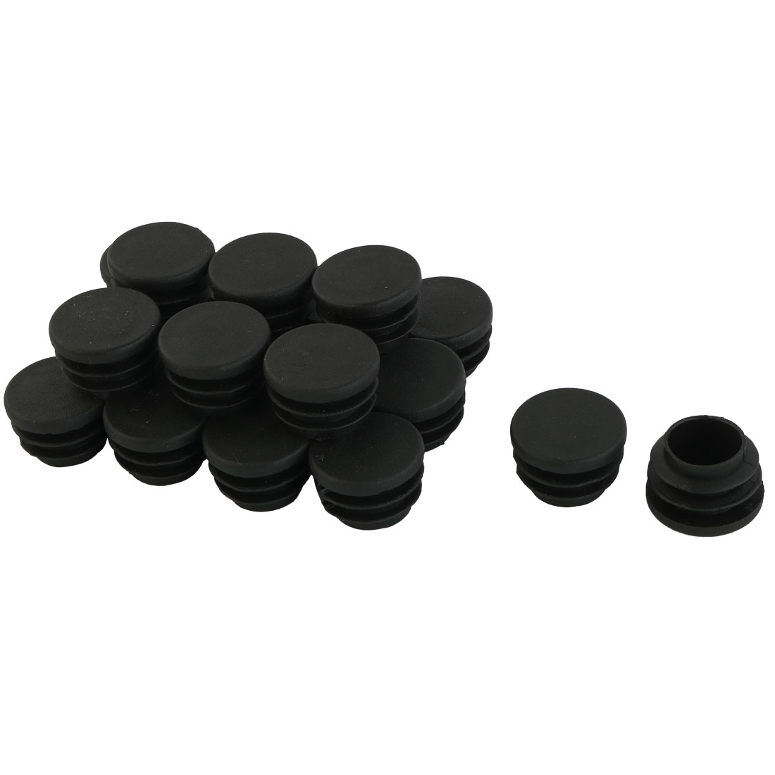 20pcs Round Blanking End Cap Caps Tubing Pipe Insert Bung