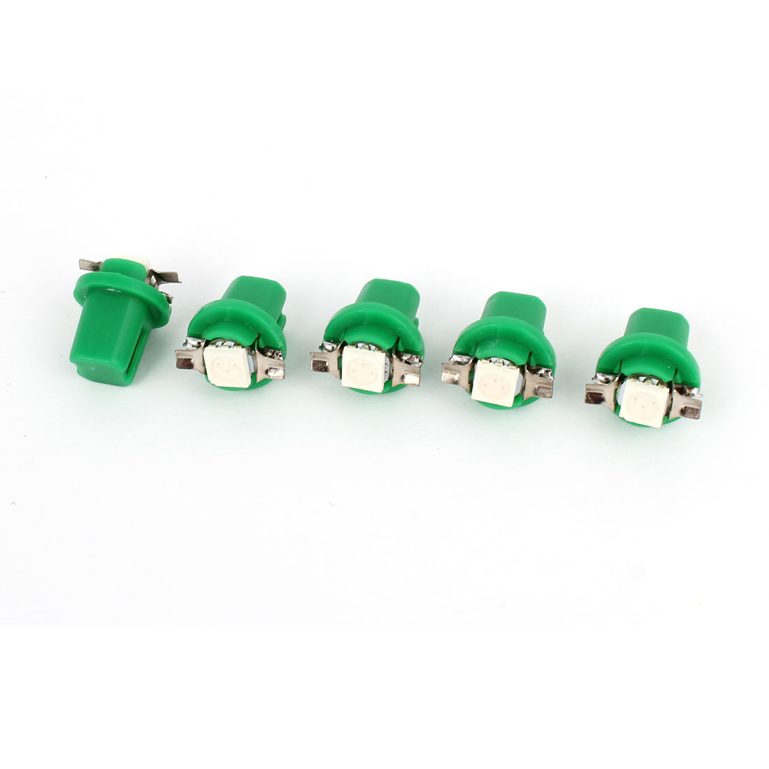 Car T5 B8.5D 5050 SMD LED Dome Light Bulb Dashboard Gauge Lamp Green 5 Pcs internal