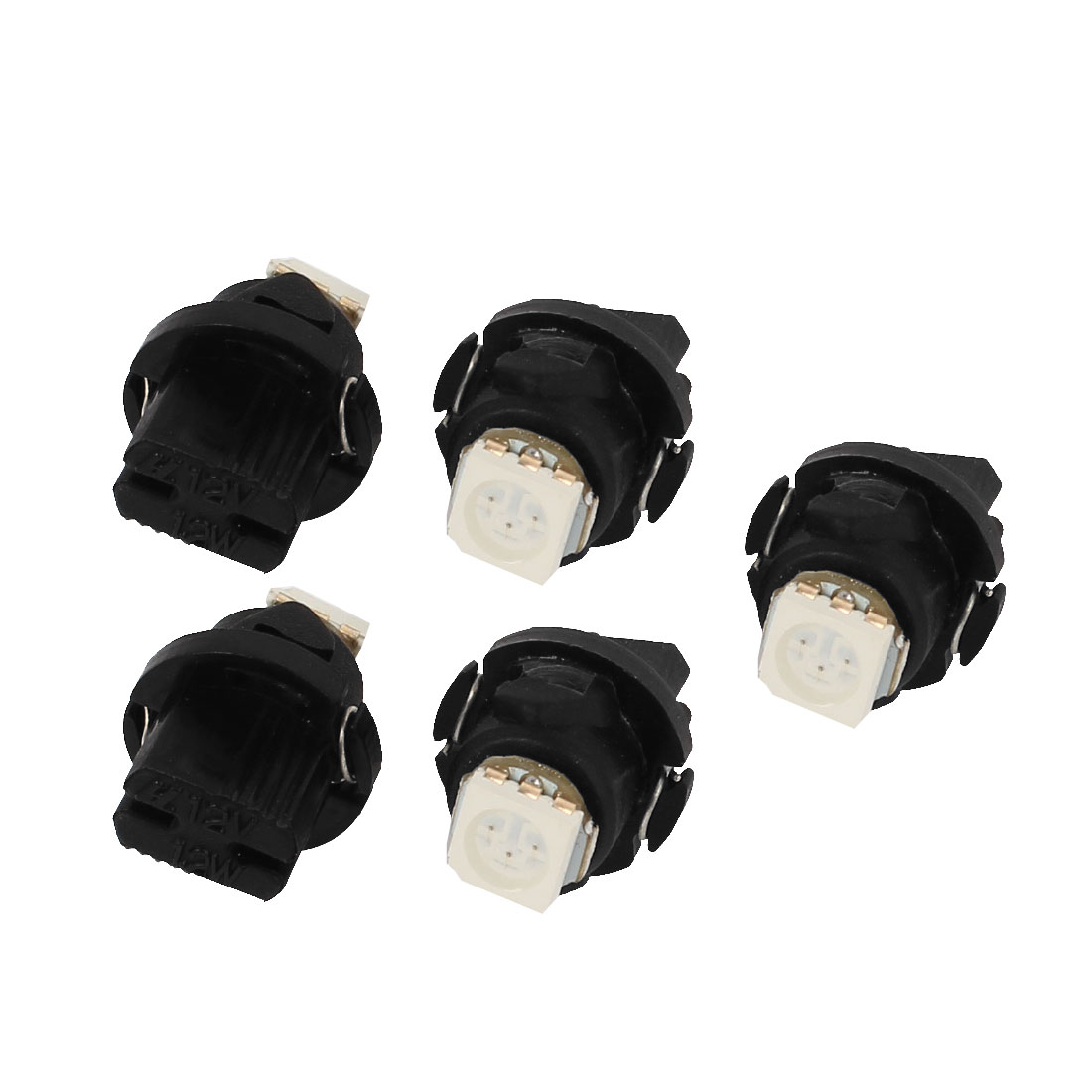 5 Pcs T5 5050 Yellow LED Vehicle Dashboard Lights Gauge Lamps Bulbs internal