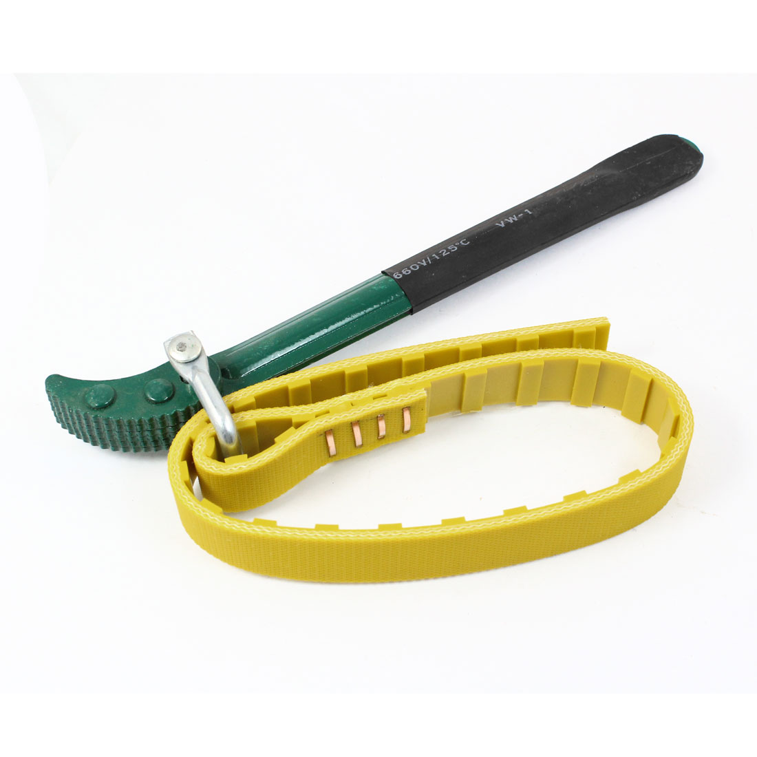 Auto Oil Filter Strap Belt Type Wrench Spanner Hand Tool Yellow Green for Nissan