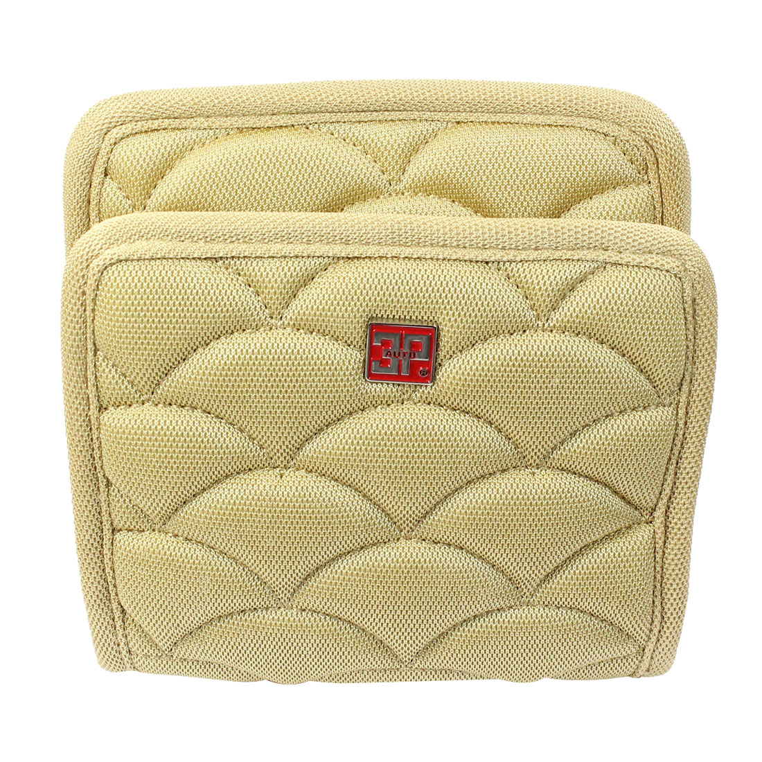 Beige Nylon Cell Phone Storage Sundries Bag for Auto Car