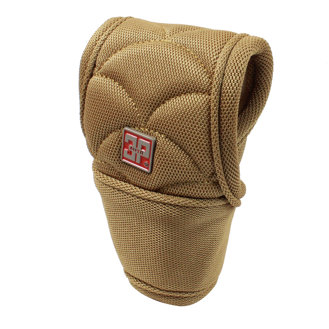 Brown Nonslip Nylon Gear Hand Shift Knob Boot Cover Protector 12 x 7cm for Auto