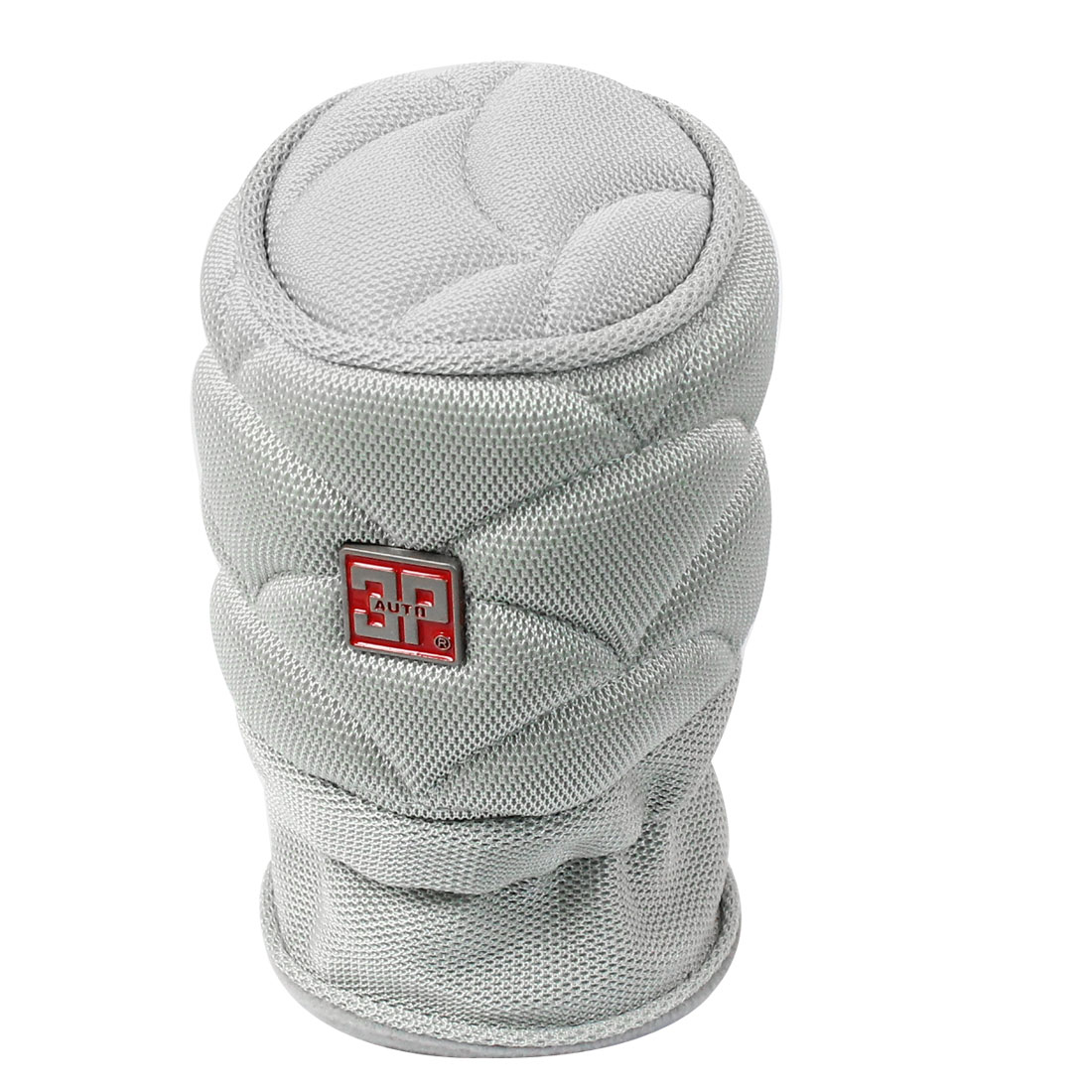 12cm x 8cm Gray Antislip Nylon Auto Gear Shift Knob Cover Protector